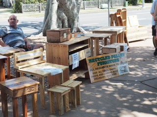 furniture, pallets, manly markets, manly