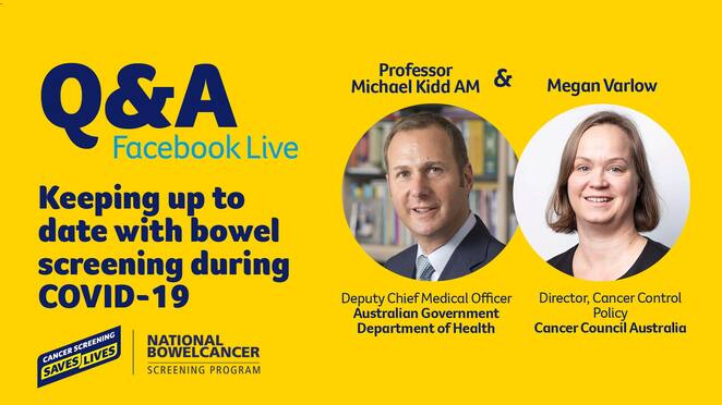 bowel screening and covid-19 q&A live, girls night in spring 2020, cancer council victoria, community event, fundraiser, charity, fun things to do, host a party, local hero, raise vital funds, women's cancer, event ideas