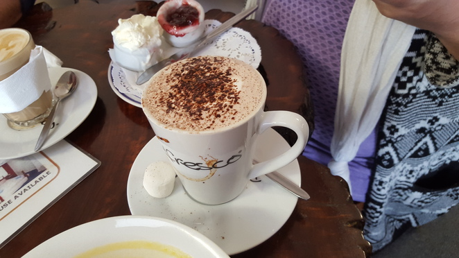 Cappucino at Linda's Billy Tea Rooms