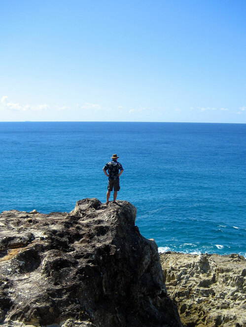 Enjoying the gorges view from the rocky cliff tops