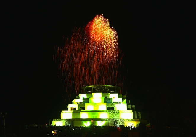 great,stupa,universal,compassion,bendigo,building,structure,buddhist,buddhism,religion,vesak,festival,light