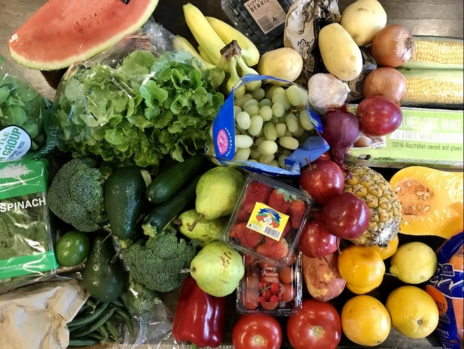 Grocery boxes, Canberra, shop for groceries from home Canberra, fresh food boxes Canberra, pantry boxes Canberra