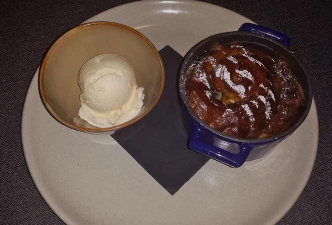 H&V bread and butter pudding