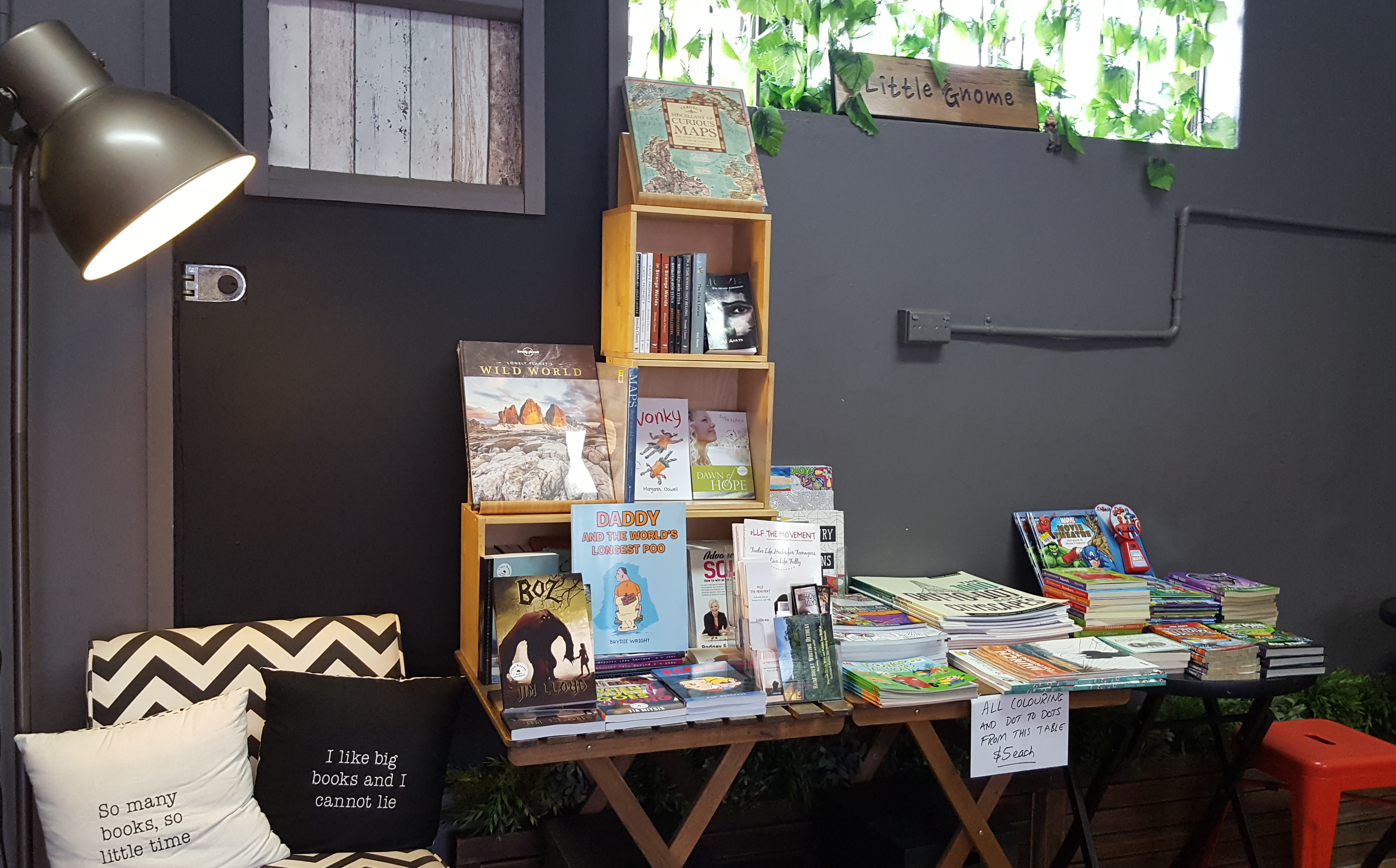 Little gnome book and coffee shop brisbane by brydie wright large image gumiabroncs Gallery