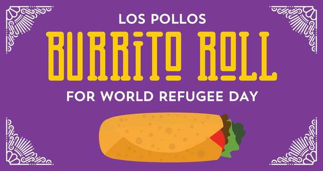 los pollos burrito roll for world refugee day 2019, los pollos fgc, charity, fundraiser, community event, fun things to do, asylum seeker resource centre, asrc, donations, eatery, local hero