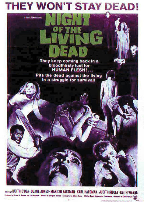 Night of the Living Dead, Zomies, Romero