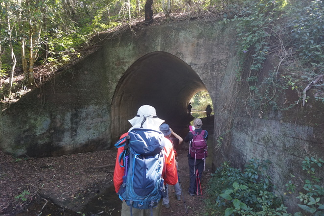 Outside the culvert