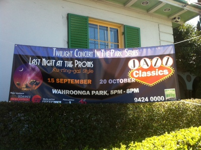 Outdoor Promotion Banner of The Twilight Concert in the Park Series