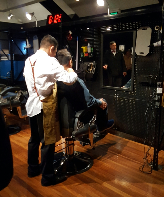 Pop-up barbershop, style, fashion, free, exhibition