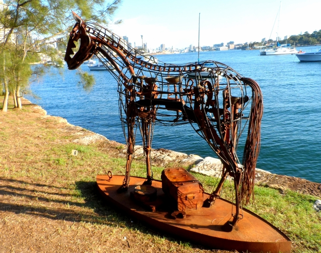 sculpture exhibition, sawmillers reserve, mcmahons point, sydney, sydney harbour foreshore, fragile piece, adrift?
