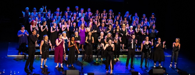 Photo of Soul Song Choir in less virally times courtesy of Soul Song