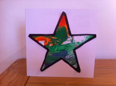 Star, paint, toddler, art, messy play