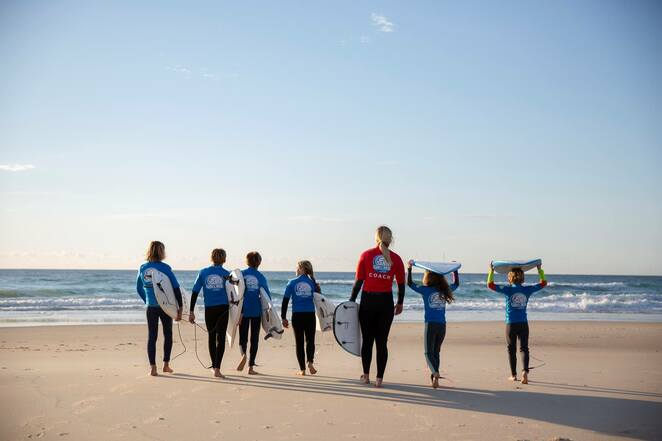 surfgroms, port stephens, school holidays, kids, programs, learn to surf, what on, things to do, programs, activities, NSW,