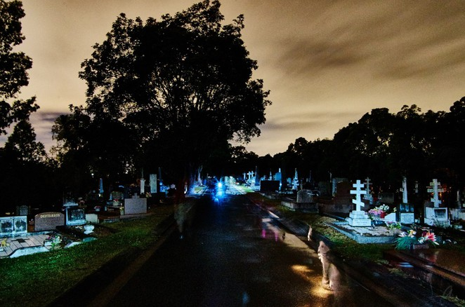 Toowong Cemetery at Night