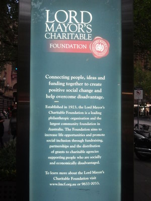 Advertisement for Lord Mayor's Charitable Foundation