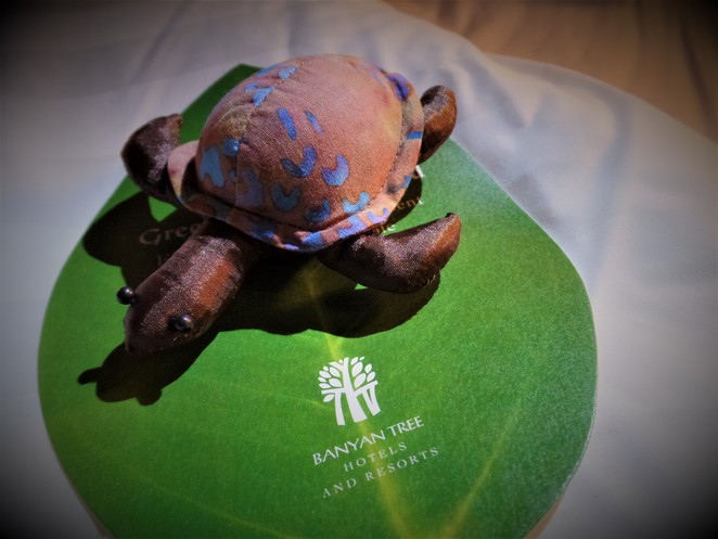 banyan tree resort turtle stuffed toy