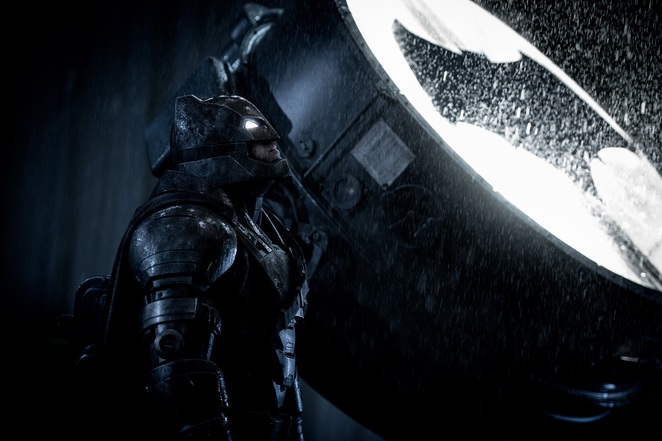 Batman played by Ben Affleck in Batman v Superman: Dawn of Justice