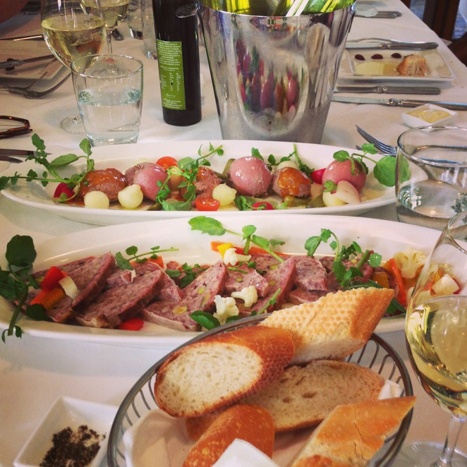 bistro molines, hunter valley, dining, lunch, french, charcuterie, duck live, pate, foie gras, pork brawn, pickled vegetables, fine dining, culinary