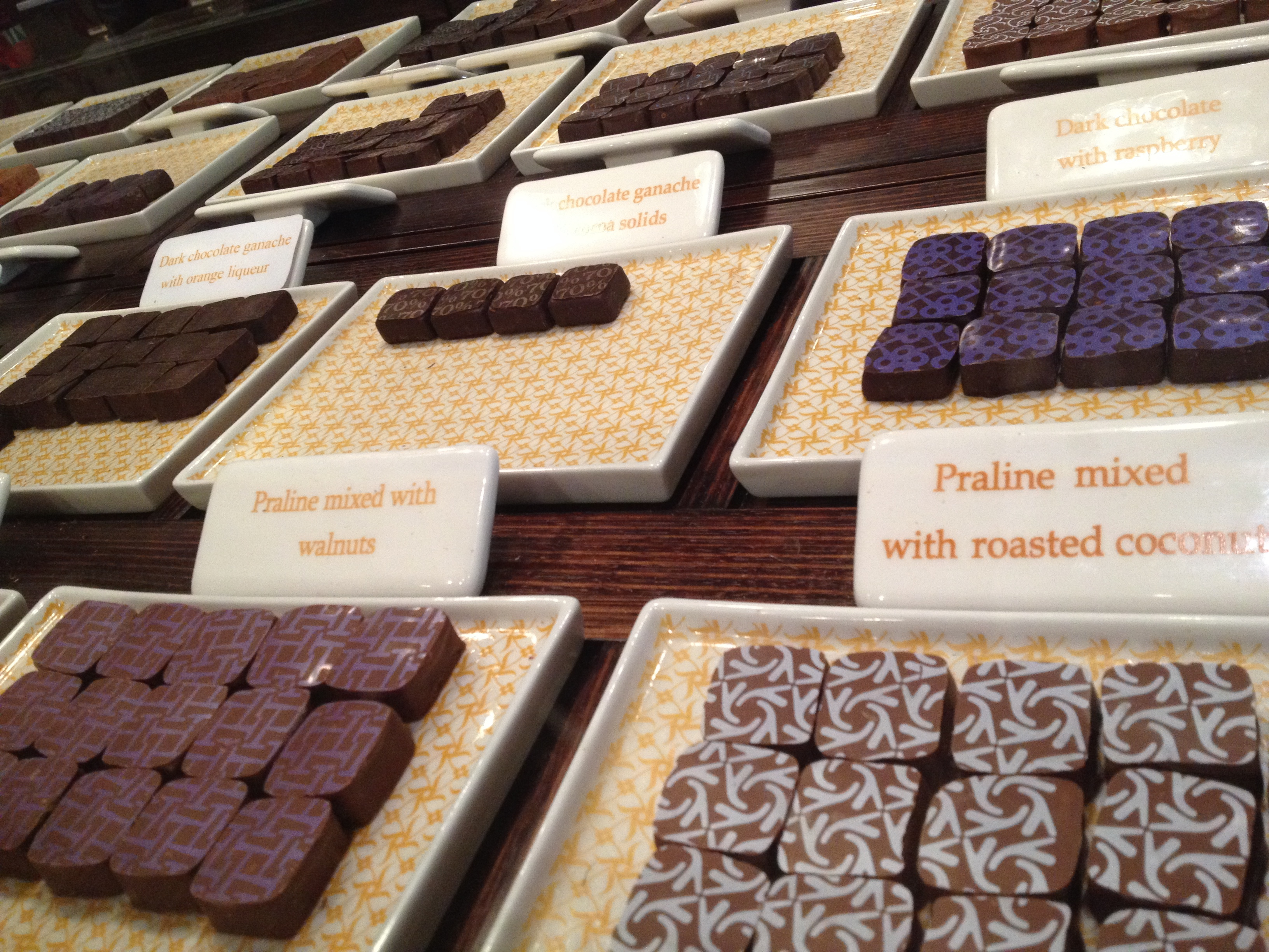 The 22 Flavours of Pralines and Ganaches @ Max Brenner