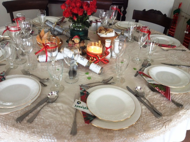 christmas, party, table setting, sydney