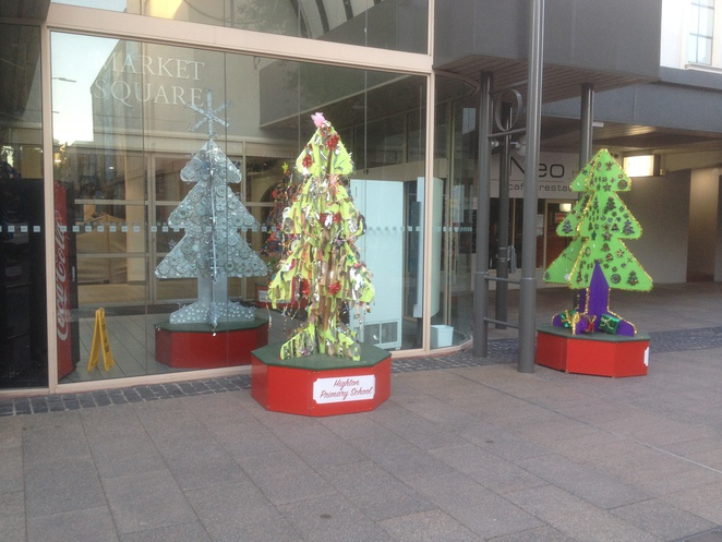 Christmas Trees decorated by 30 Schools