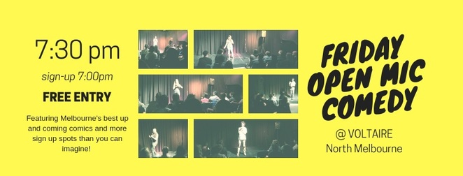 Club Voltaire friday stand up comedy melbourne