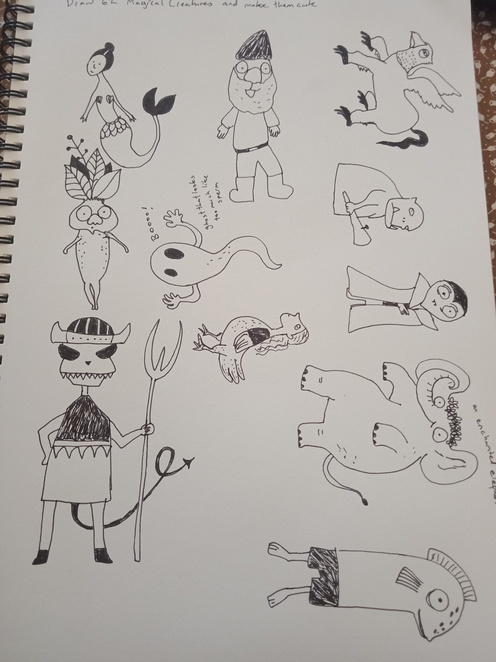 draw 62 magical creatures and make them cute, drawing, how to draw books, how to draw dragons