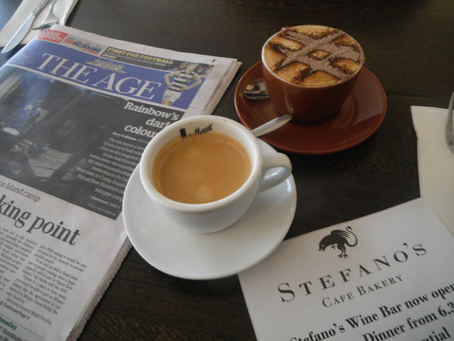Coffee is a must at Stefano's
