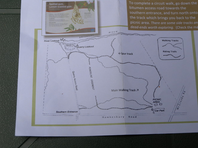 Map from Pamphlet - Anstead Bushland Reserve - An Informal Guide