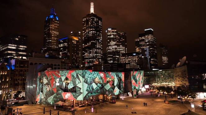 fed square christmas projections