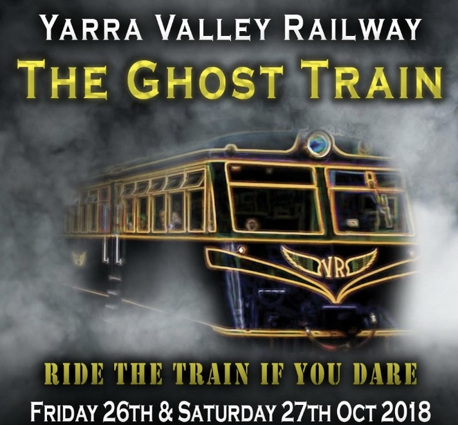 Ghost train, Halloween, Healesville, yarra valley, railway