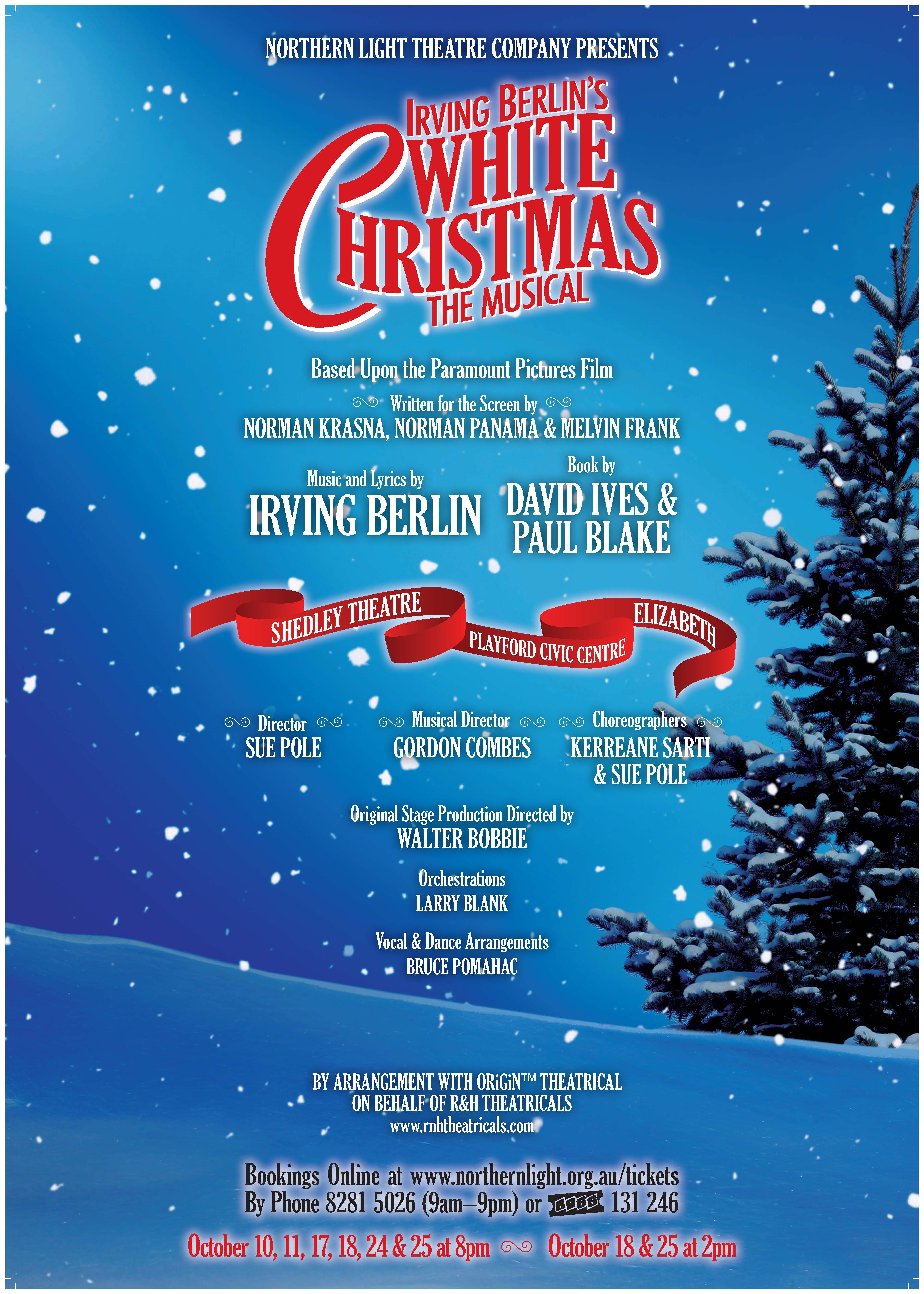 White Christmas Irving Berling.Irving Berlin S White Christmas Northern Light Theatre Company