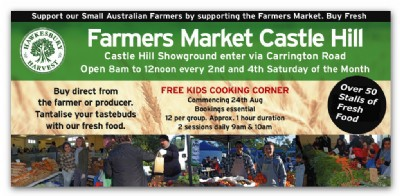 Kids Cooking Corner at Hawkesbury Harvest and Fine Food Markets