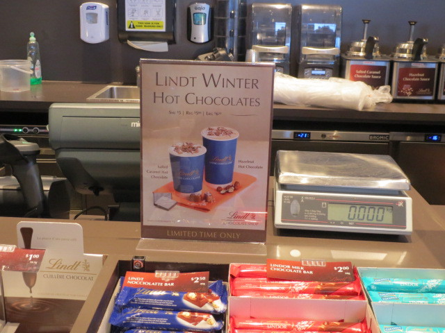 Lindt Chocolate Shop, Hot Chocolate Sign, Adelaide