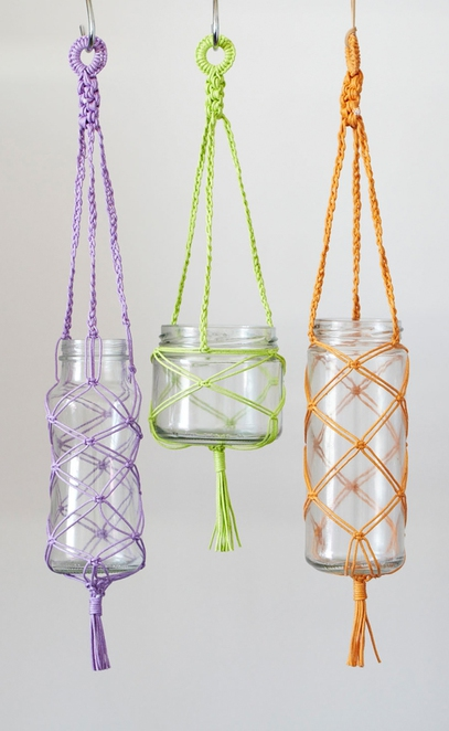 free macrame plant hanger instructions