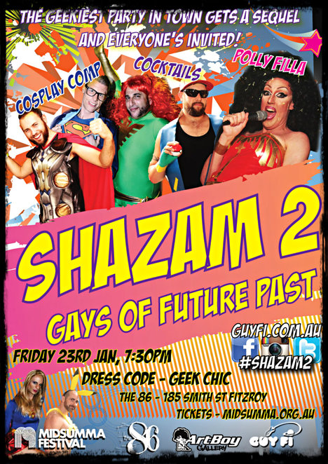 midsumma festival, shazam2, queer greek dance party, gays of future past, gays, lesbian, queer, artboy gallery