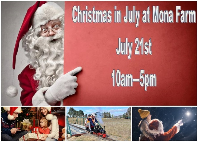 mona farm and historic home, christmas in july, 2018, open day, santa, historical, families, kids, adults, miniature steam train ride, mulled wine, NSW, ACT, canberra, braidwood,