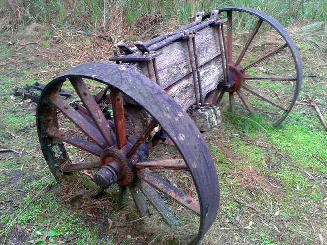 The old bullock cart on the heritage trail