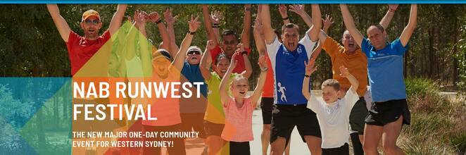 nab runwest festrival 2019, community event, fun things to do, blacktown international sports park sydney, running festival, sydney motorsport park, sydney zoo, western sydney parklands, rooty hill run west, fundraiser, charity, fun things to do, community event, jogging, family fun, sport, fitness