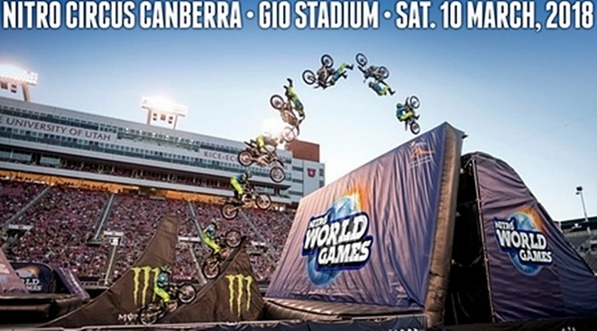 nitro circus, next level, canberra, ACT, GIO stadium, canberra day long weekend, what's on, family events,
