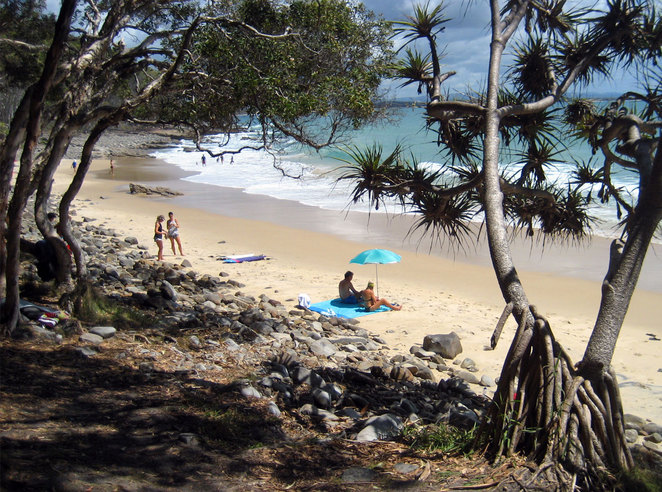 There are many walks on the Sunshine Coast that lead to nice swimming beaches