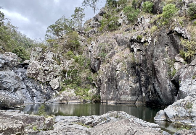 In summer this waterhole is a popular swimming spot
