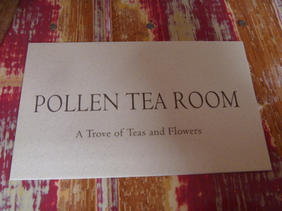 Pollen Tea Room Menu