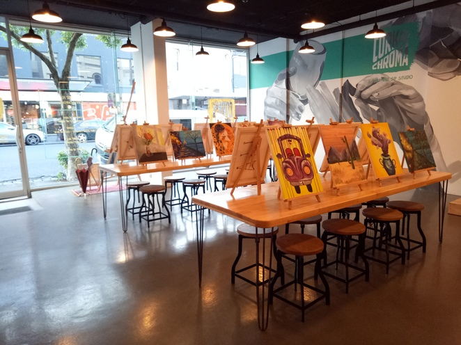 Paint studio, collingwood, paint and sip, workshop, creative workshop, fun things to do,