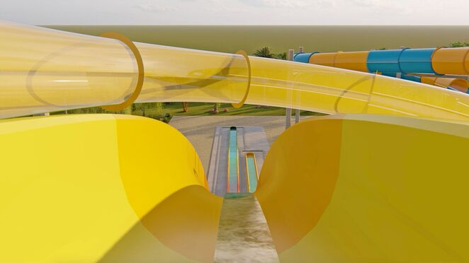 Perth's Outback Splash waterslide tower