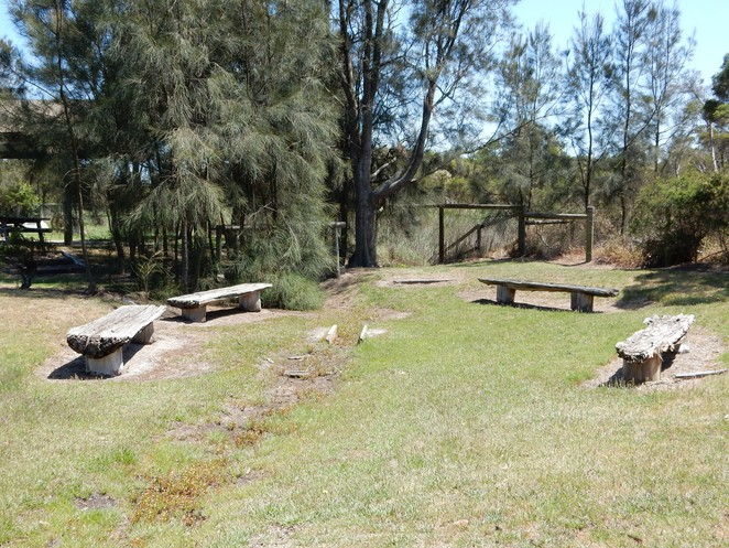 picnic grounds in koo wee rup, south gippsland highway, picnic seating, swamp reserve, roadside stop gippsland,