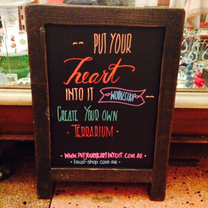 Put Your Heart Into It sign