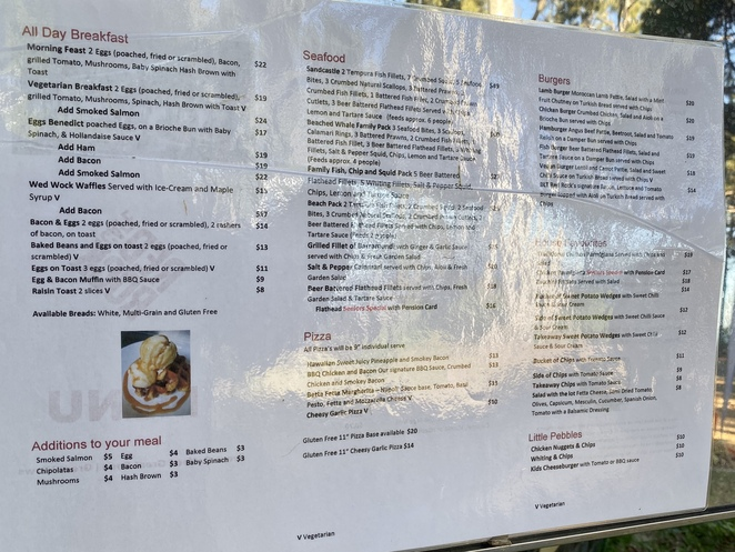 Red Rock Cafe has a varied menu with gluten free and vegatarian options