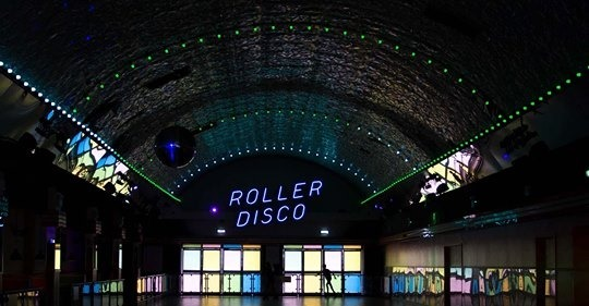 roller disco winter melbourne fun