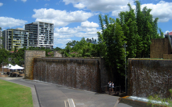 Couple at the Roma Street Parklands